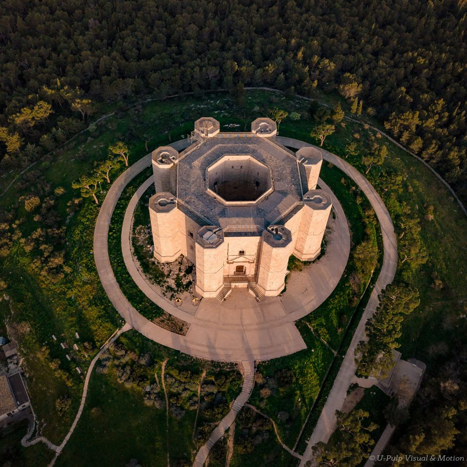 Aerial view of Castel del Monte | National Park of Alta Murgia