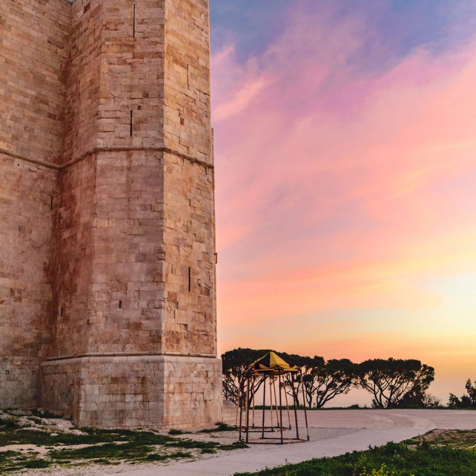 A beautiful sunrise at Castel del Monte | National Park of Alta Murgia