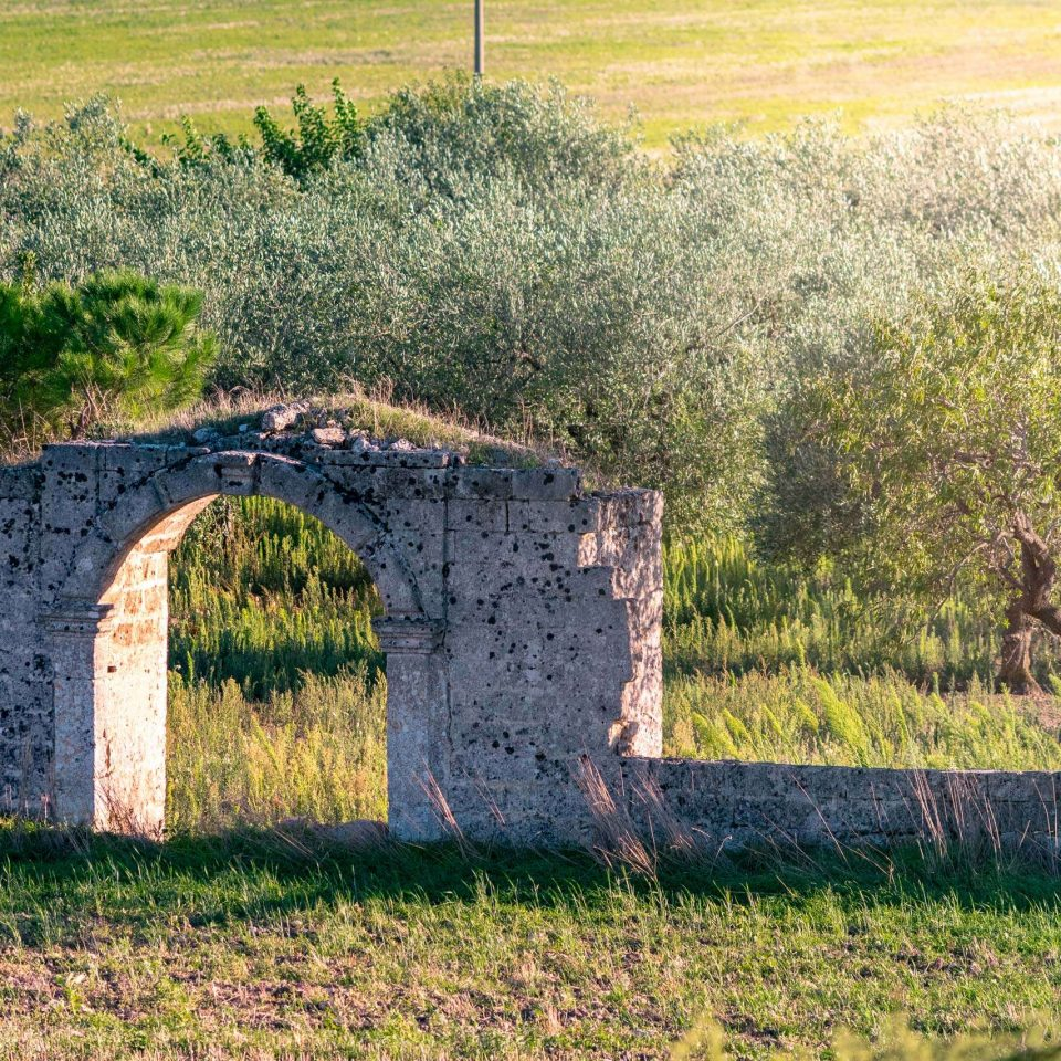 Detail of a Jazzo at National Park of Alta Murgia in Puglia