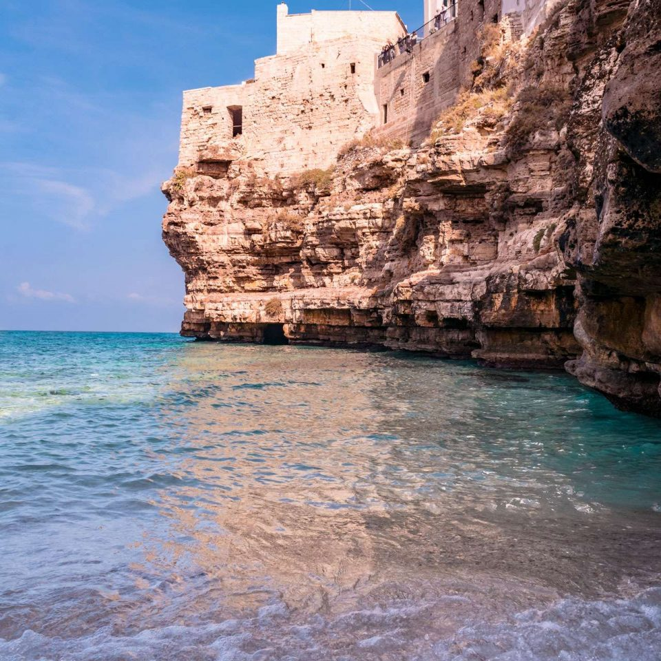 A view from the beach of Cala Monachile | Polignano a Mare | Puglia