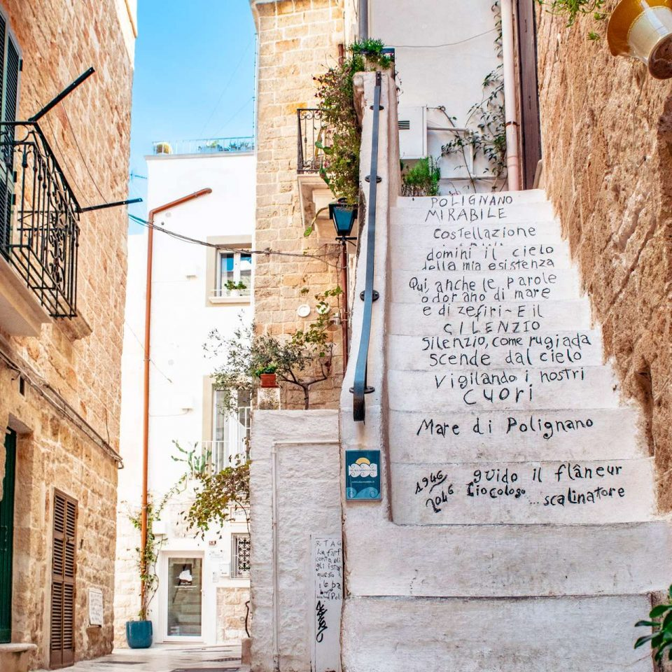 Poems written all around the old village of Polignano a Mare | Cala Monachile | Puglia