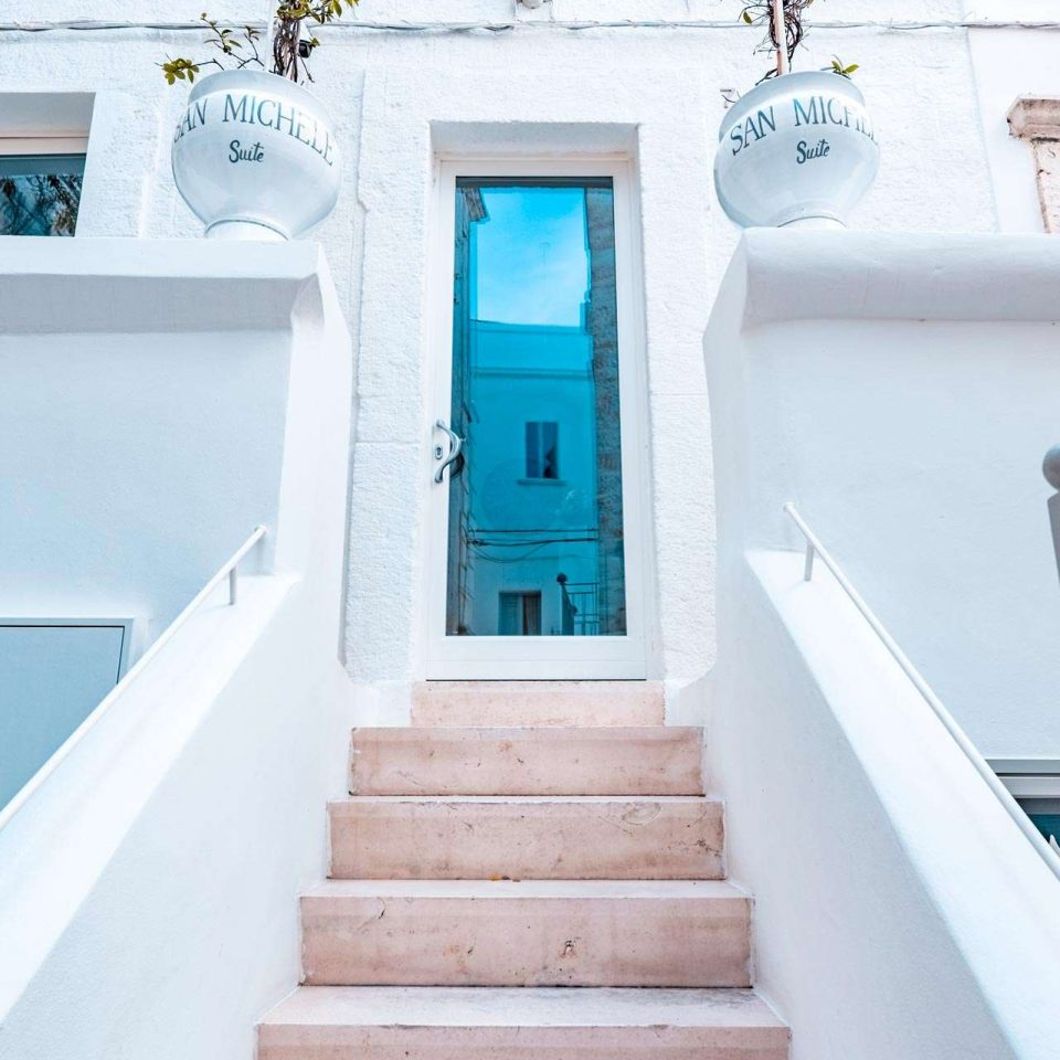 Entrance of San Michele, with five luxury suites in Polignano a Mare