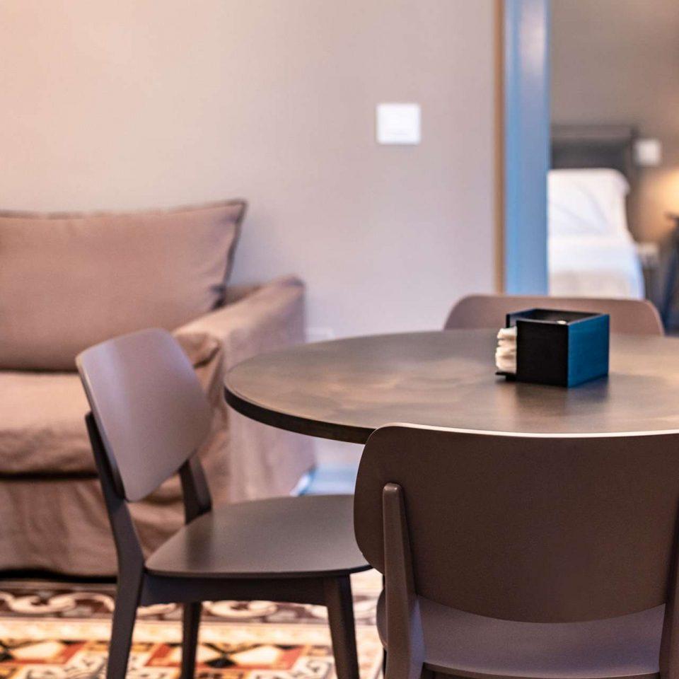 The living room in one of the five luxury flats at Cinquevite in Polignano a Mare | Puglia