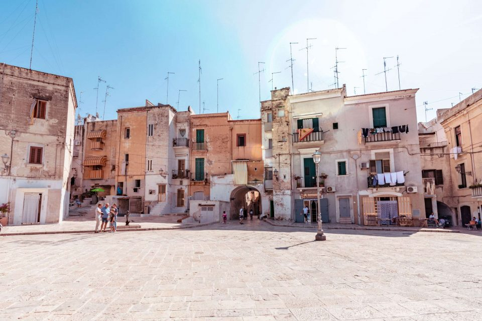 Panoramic of the old town of Bari city.