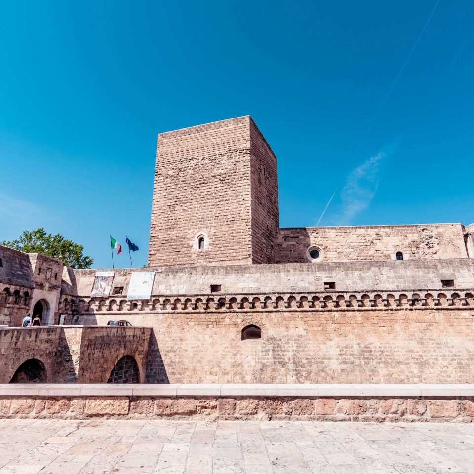 Swabian Castle in the old town of Bari city.