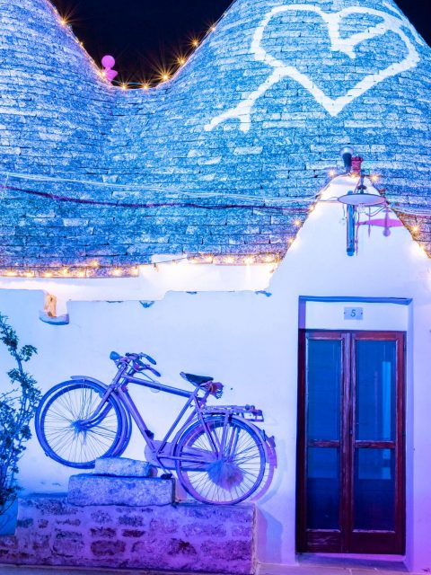 Christmas lights in Puglia, Alberobello