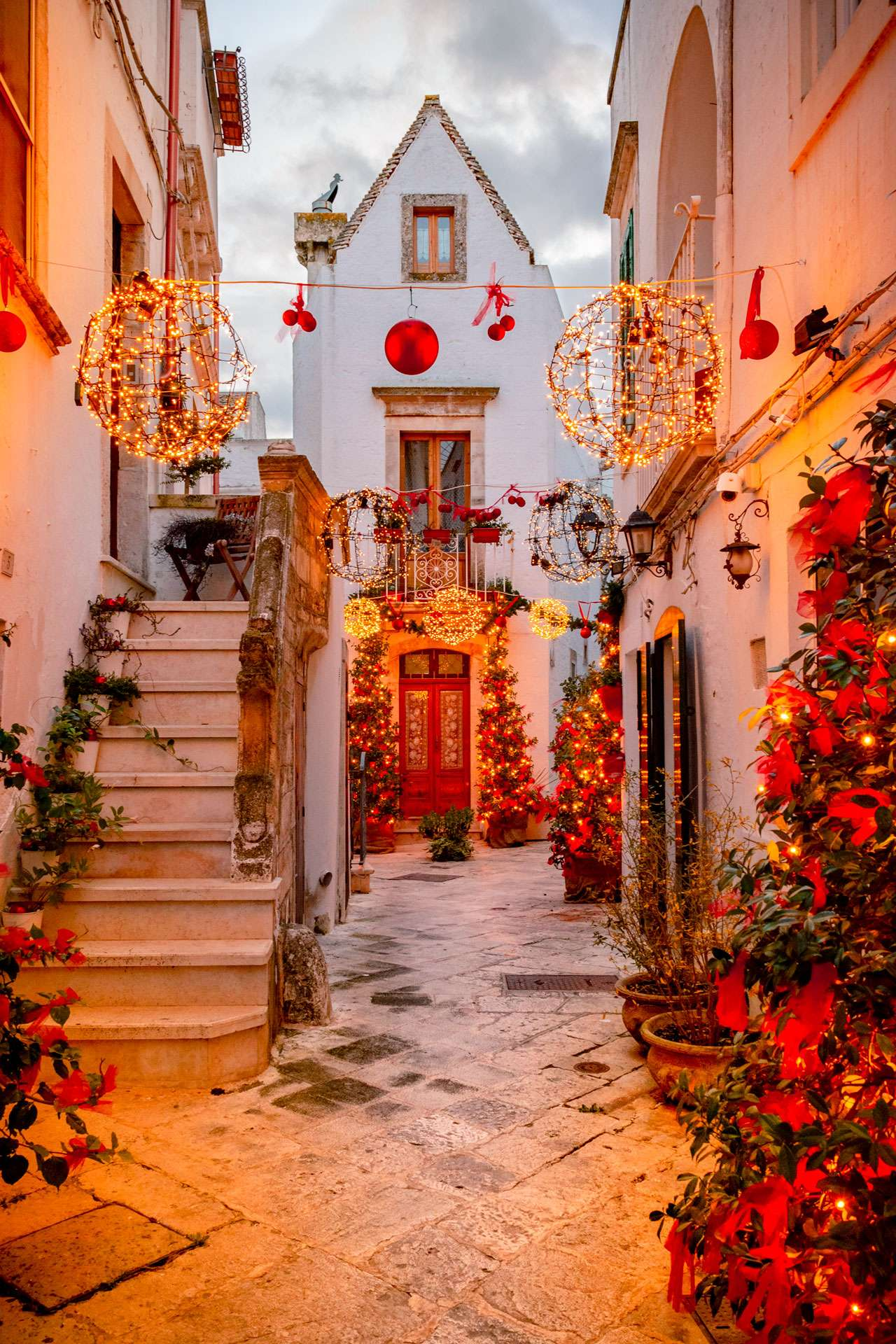 Christmas in Puglia, Locorotondo during the day time