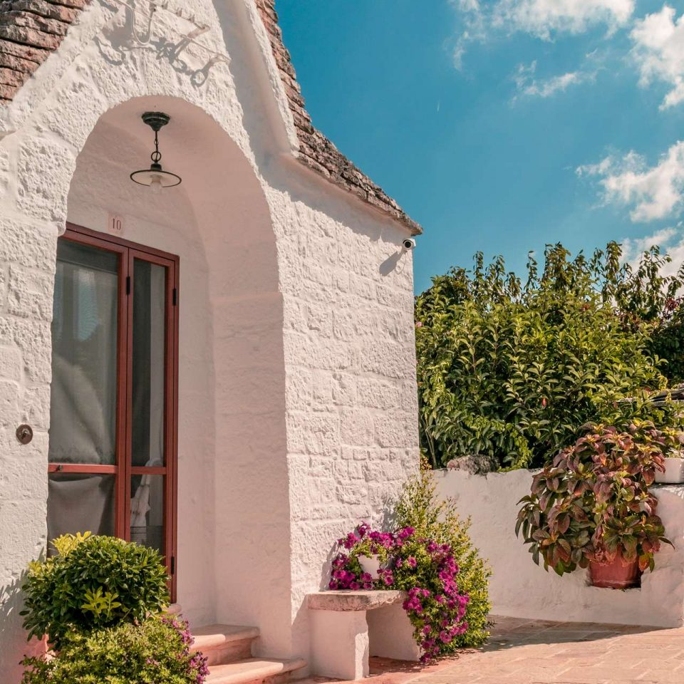 Entrance of a Trullo in Alberobello, Puglia