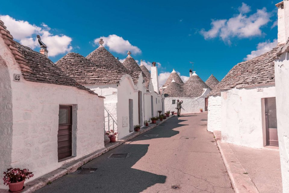 Panoramic view of Alberobello, Puglia