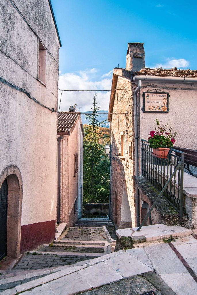 A street with a Franco Provencal sign in Celle San Vito | Explore Puglia and Daunia Mountains