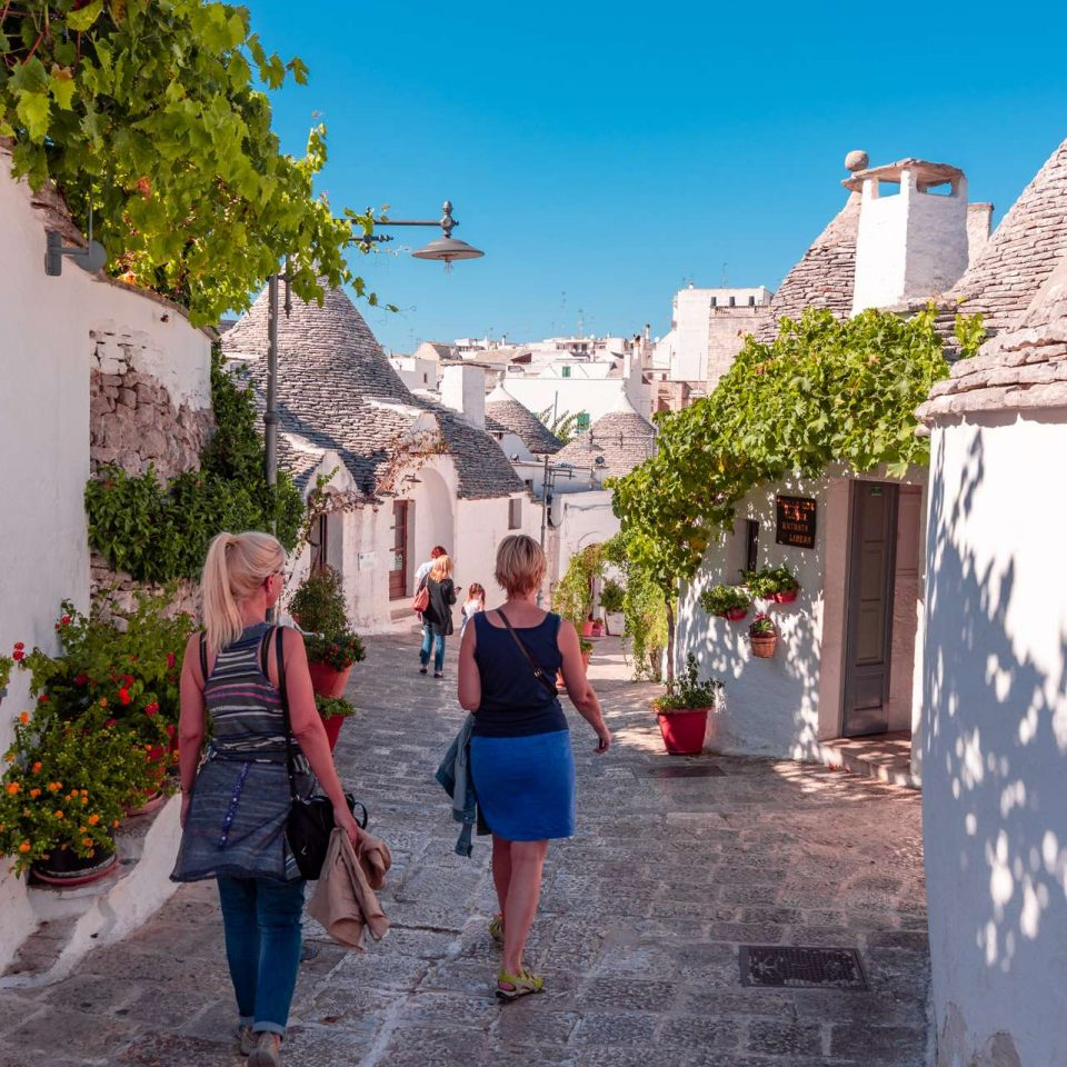A walk at trulli in Alberobello, Puglia