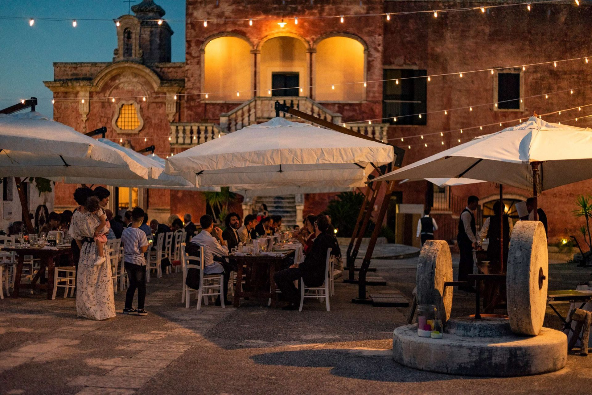 A wedding in Puglia by night at Masseria Spina Resort
