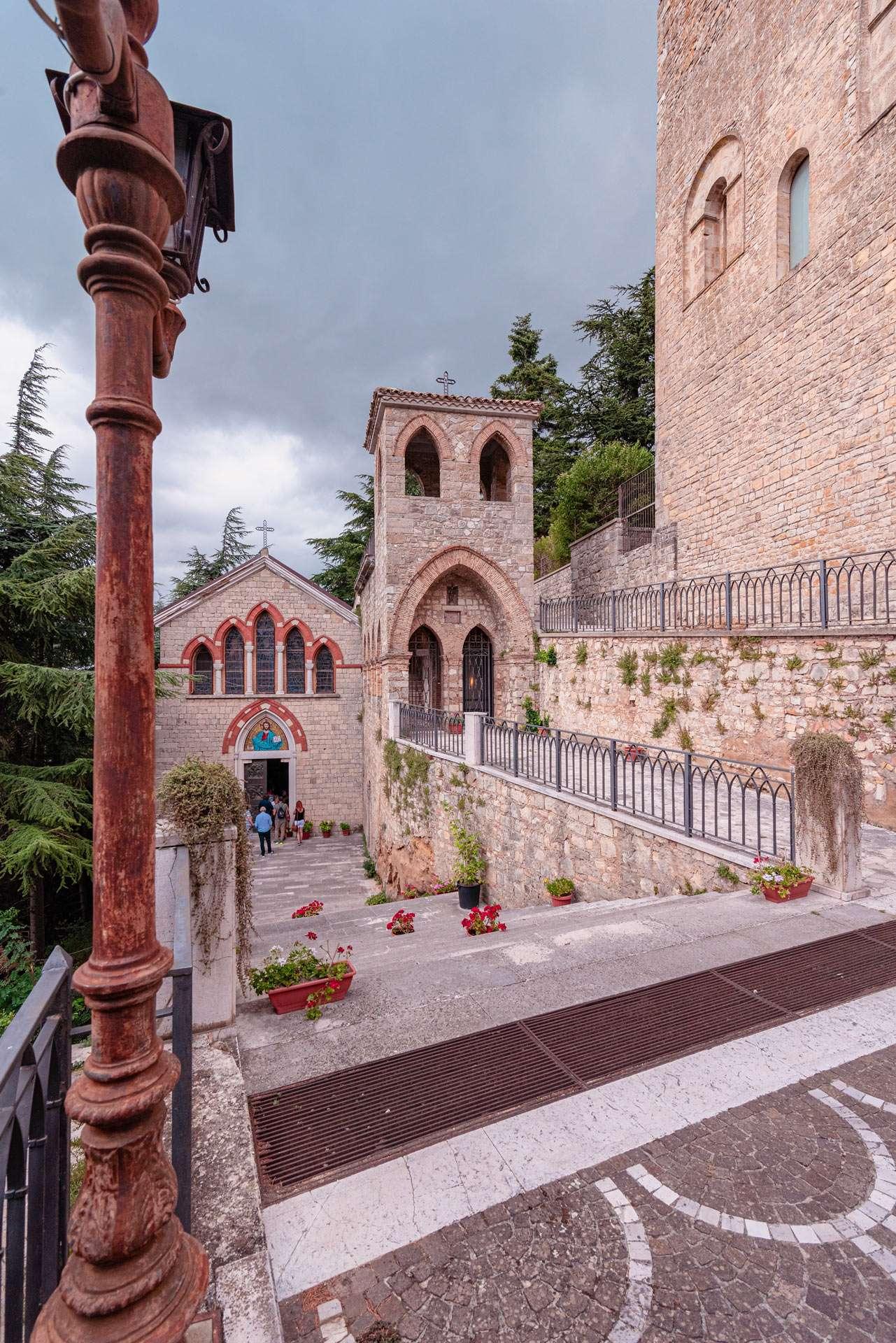Panoramic view of San Michele curch in Orsara di Puglia