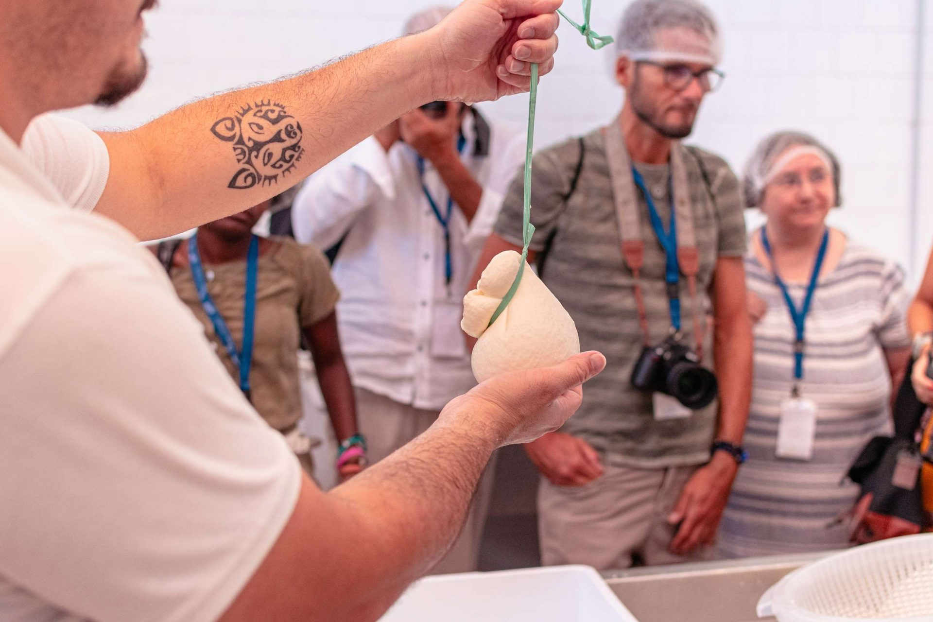 Scamorza made at cheese making class during the Experience Tour in Orsara di Puglia