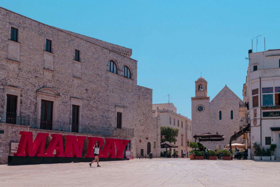 Castles in Puglia - Piazza della conciliazione of Conversano - Imperial Apulia