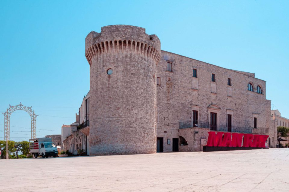 Castles in Puglia - Tower and facade of the Castle of Conversano - Imperial Apulia