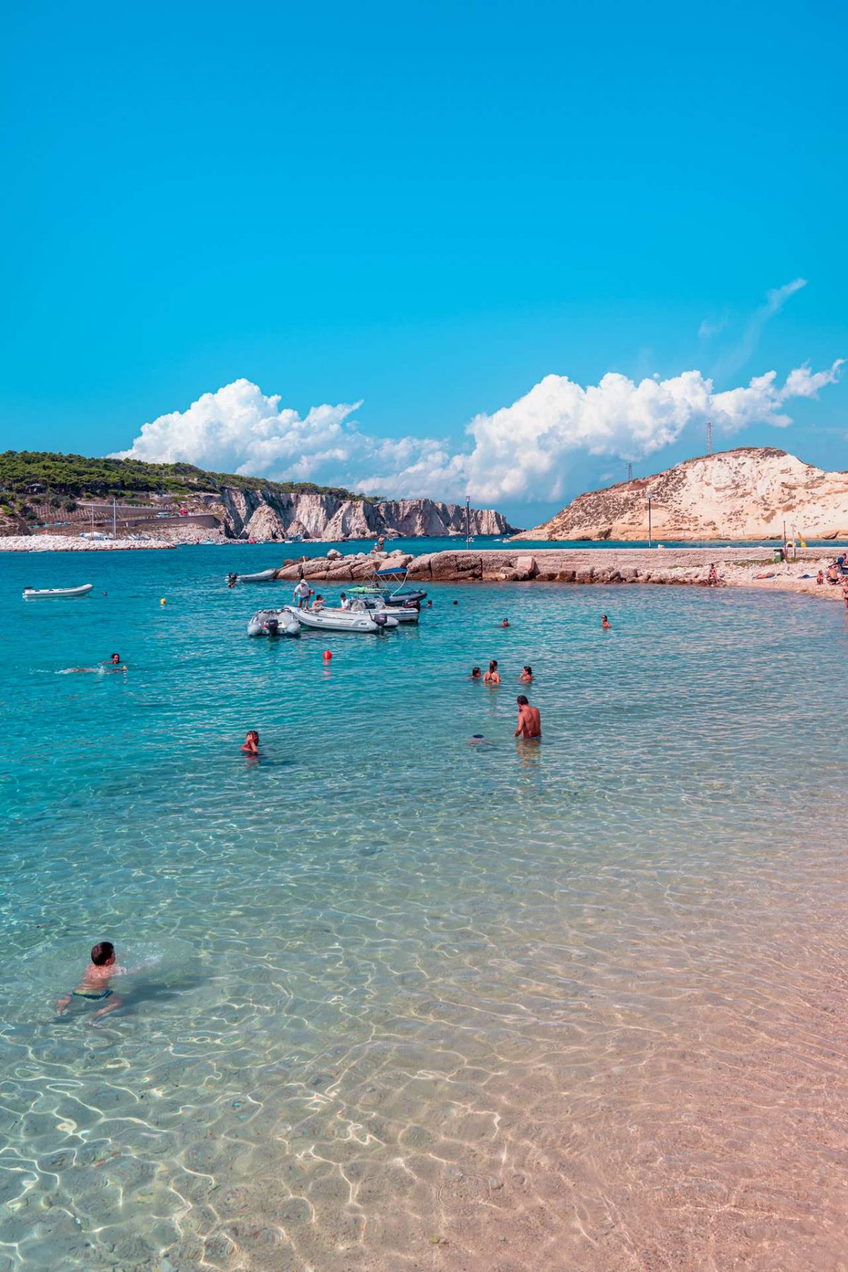 Clear water and the sandy beach at the San Nicola Island | Tremiti Islands | Puglia