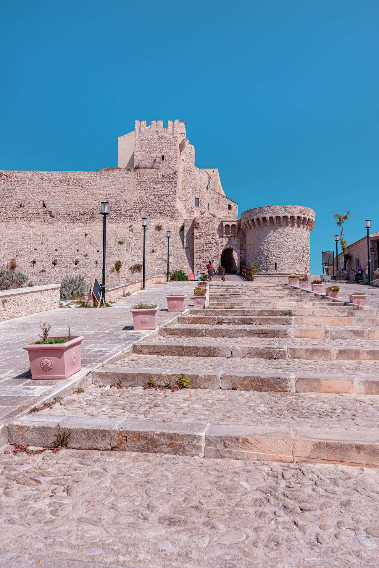 The entrance of the Abbey of Santa Maria a Mare at the San Nicola Island | Tremiti Islands | Puglia