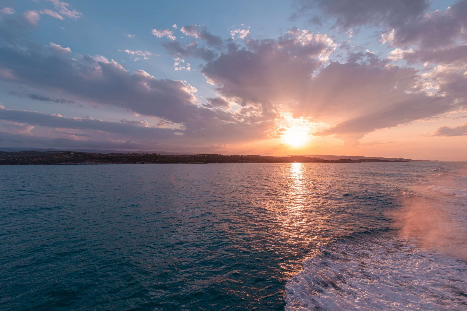 The sunset from the ferry to the Tremiti Islands | Puglia
